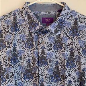 Talia Blue Floral Button Down Shirt